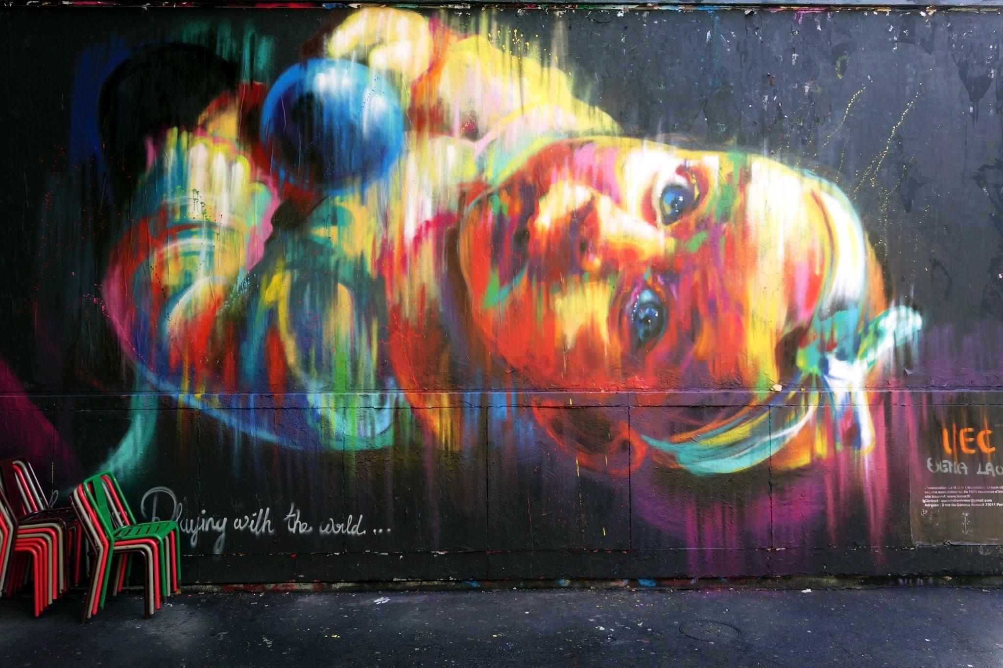 Sêma Lao, le M.U.R Oberkampf, Paris