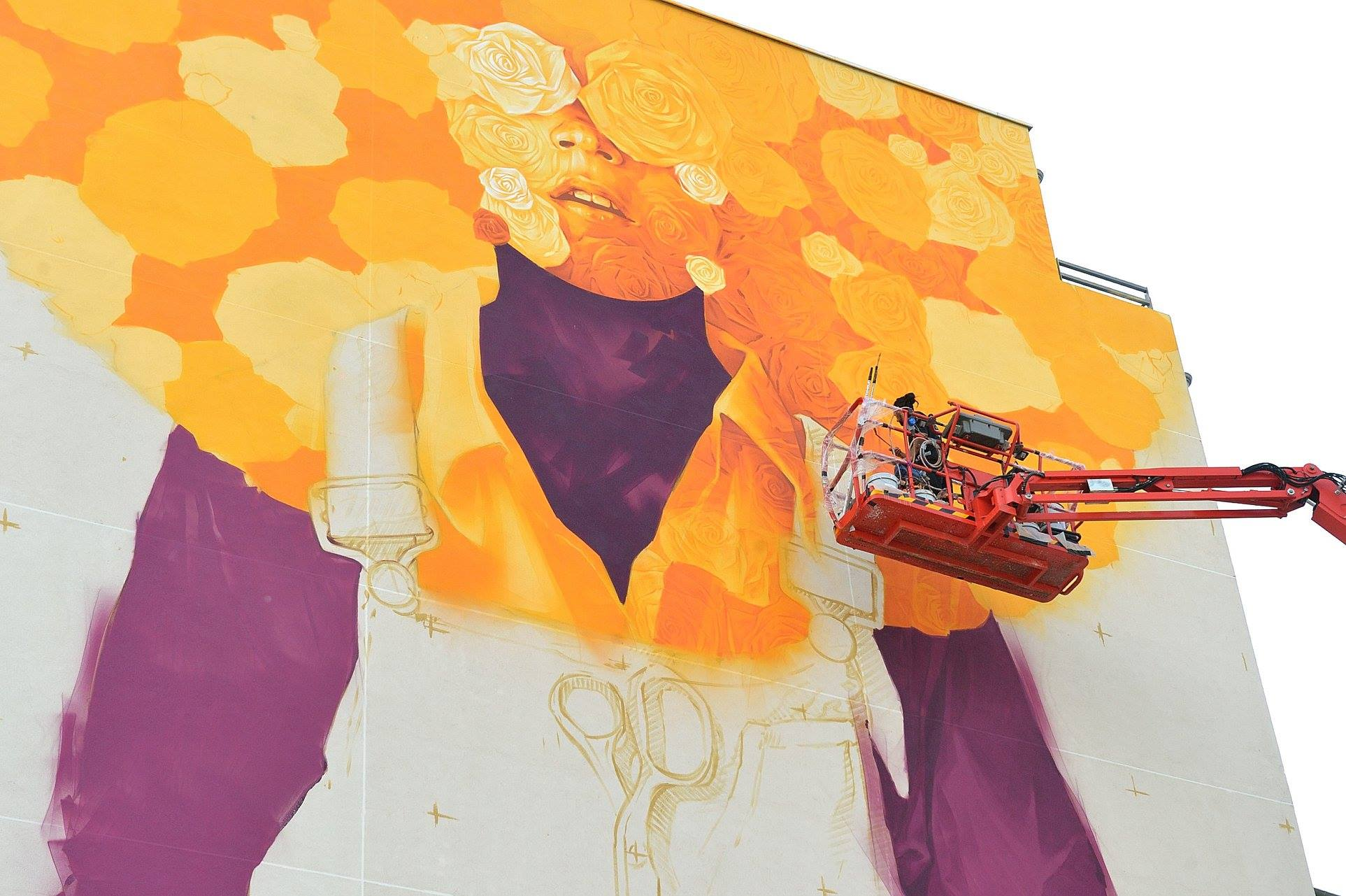 Peinture fraiche festival, Inti from Chile