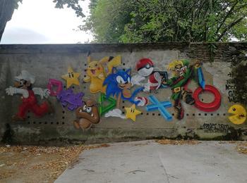 Mario, Pikachu, Pacman, Sonic, Link