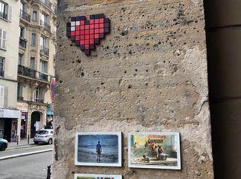 Coeur pixels france-paris-sticking