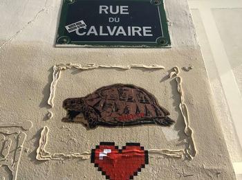 Coeur pixel france-paris-sticking