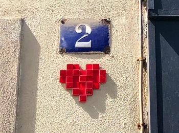 Coeur pixel france-paris-mosaic