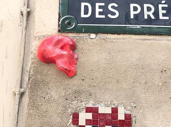 Titiskull invader france-paris-sticking