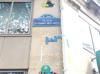 Saint André des arts france-paris-graffiti